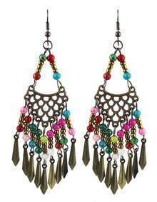 Multicolor Bead Mesh Earrings