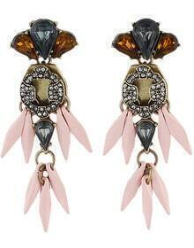 Pink Drop Gemstone Earrings