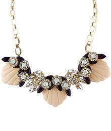 Pink With Diamond Gold Necklace