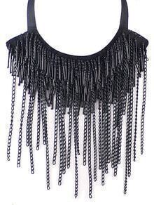 Black Tassel Chain Necklace