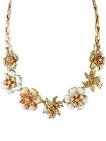 Gold Flower Diamond Necklace