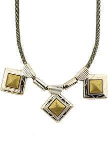 Gold Square Chain Necklace