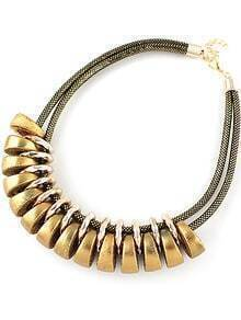 Gold Round Double Necklace