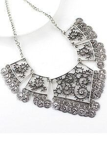 Silver Square Diamond Necklace