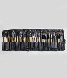 32pcs Professional Cosmetic Makeup Brush Set with Balck PU Leather Bag