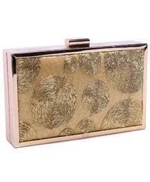 Gold PU Clutch Bag
