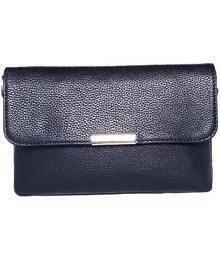 Black Magnetic PU Shoulder Bag