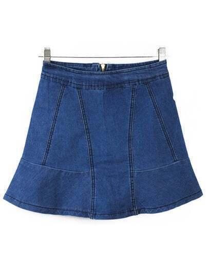 High Waist Ruffle Skirt 90