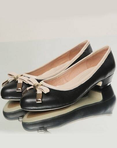 Black Point Toe With Bow Shoes