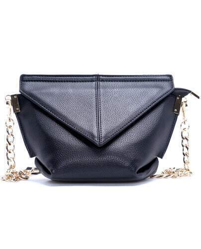 Black Chain Leather Bag