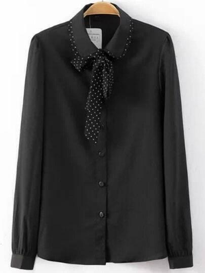Блузка С Воротником-Бантом 58 Размер