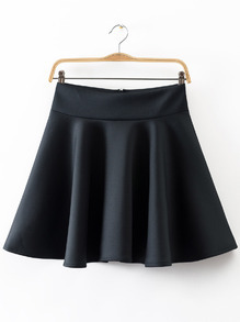 High Waist Pleated Flare Skirt