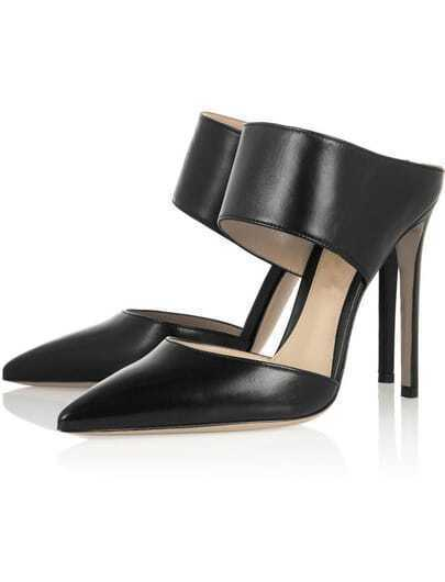Black Point Toe High Heeled Shoes