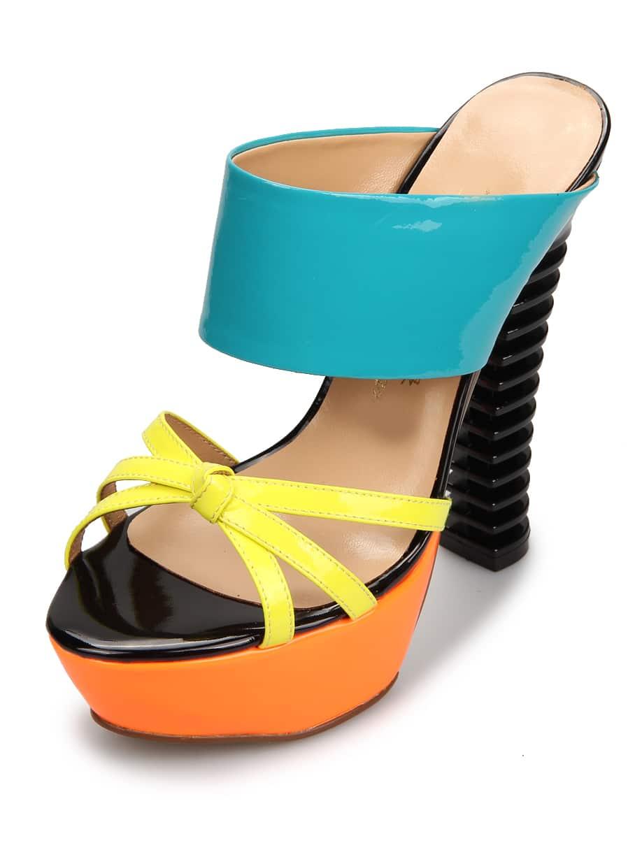 green platform high heels shoes shein sheinside