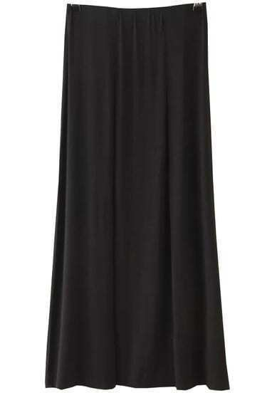 Black Pleated Modal Skirt