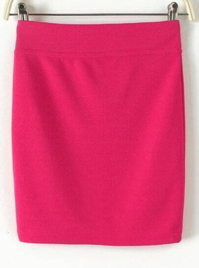 Rose Red Bodycon Mini Skirt
