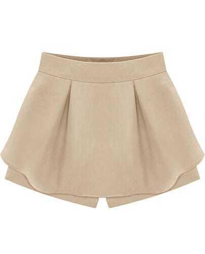 Apricot High Waist Ruffle Skirt Shorts