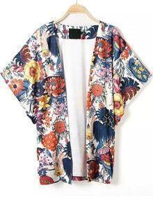 Multicolor Floral Loose Kimono