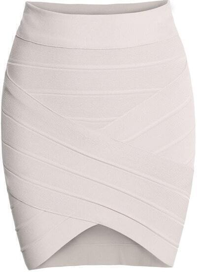 White Slim Bodycon Skirt