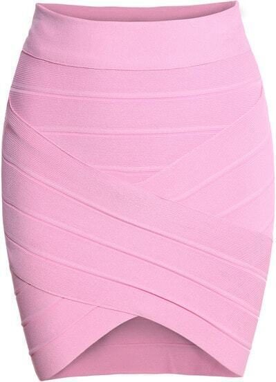 Pink Slim Bodycon Skirt