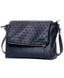 Black Hollow Polka Dot PU Bag