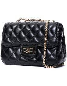 Black Diamond Pattern Chain Bag