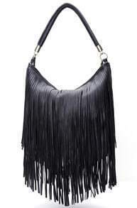 Black Tassel PU Bag