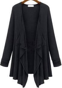 Black Long Sleeve Slim Casual Top