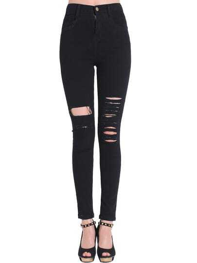 Ripped Slim Ankle Jeans