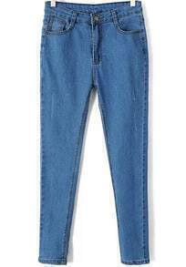 Blue Pockets Slim Denim Pant