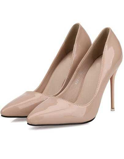 Apricot Point Toe High Heeled Pumps