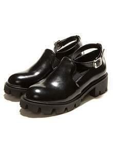 Black Slingbacks Flat Shoes