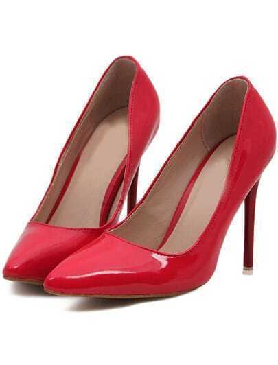 Red Point Toe High Heeled Pumps