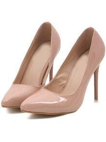Nude Point Toe High Heeled Pumps