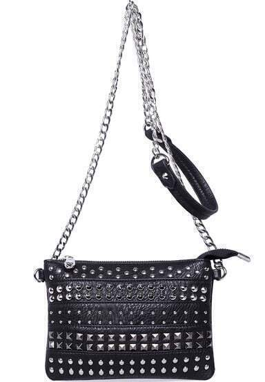 Black With Rivet Shoulder Bag