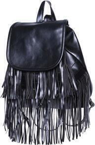 Black With Tassel Backpack