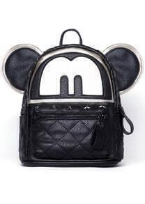 Black Mickey With Star Rivet Backpack
