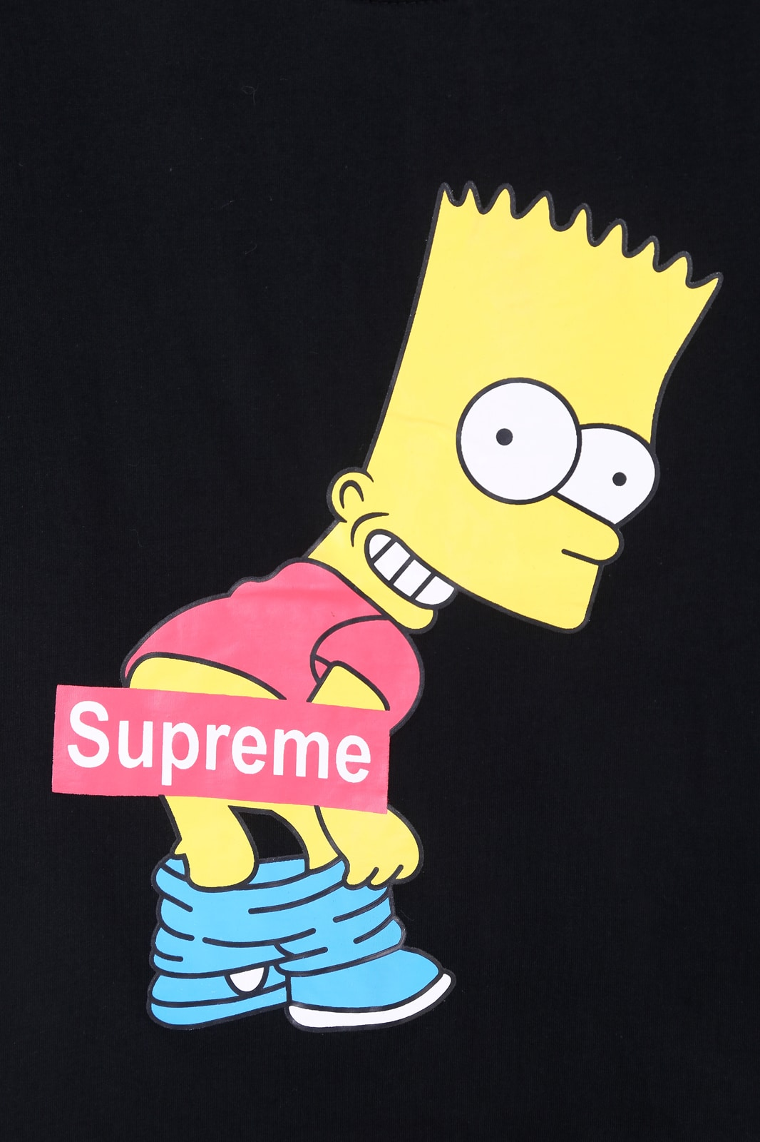 Black Short Sleeve Supreme Simpson Print T Shirt Shein