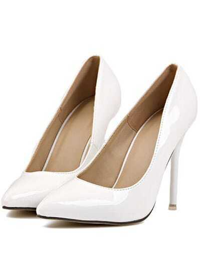 White Point Toe High Heeled Pumps