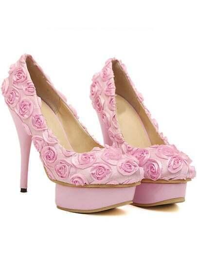 Scarpe con tacco alto rosa