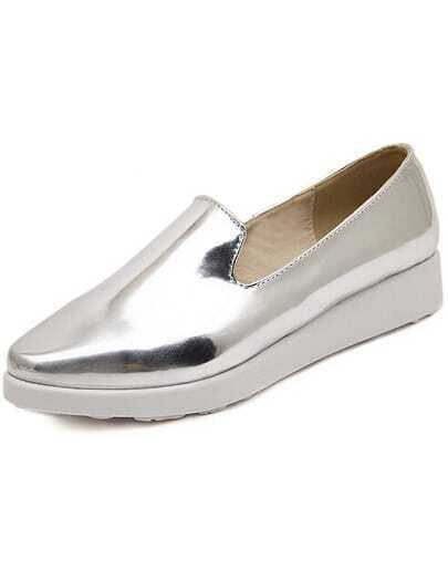 Silver Point Toe Heavy-bottomed Flats
