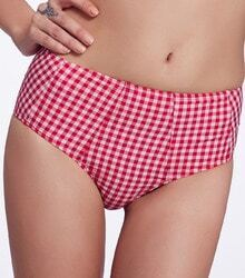 Red Vintage Plaid Bikini Pant