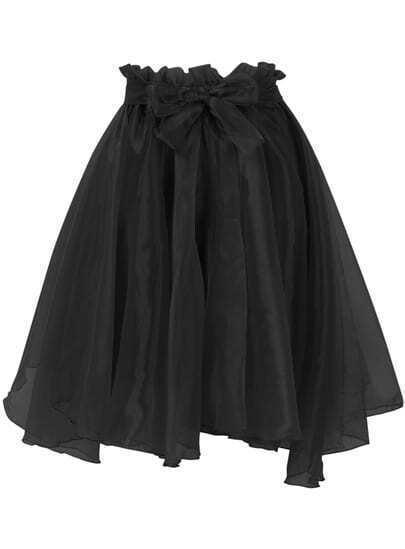 Black Sheer Mesh Skirt