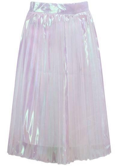 White Sheer Midi Skirt