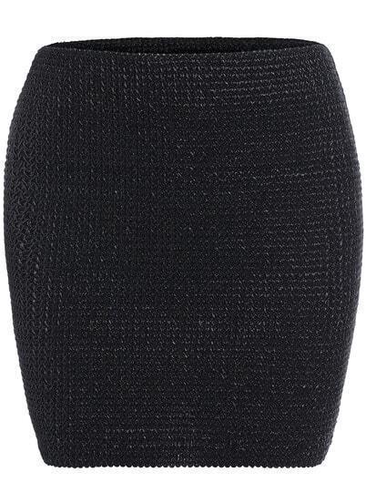 Black Slim Bodycon Skirt