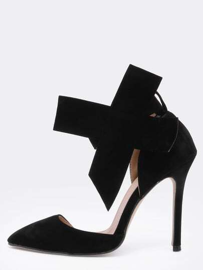 Black With Bow Slingbacks High Heeled Pumps pictures