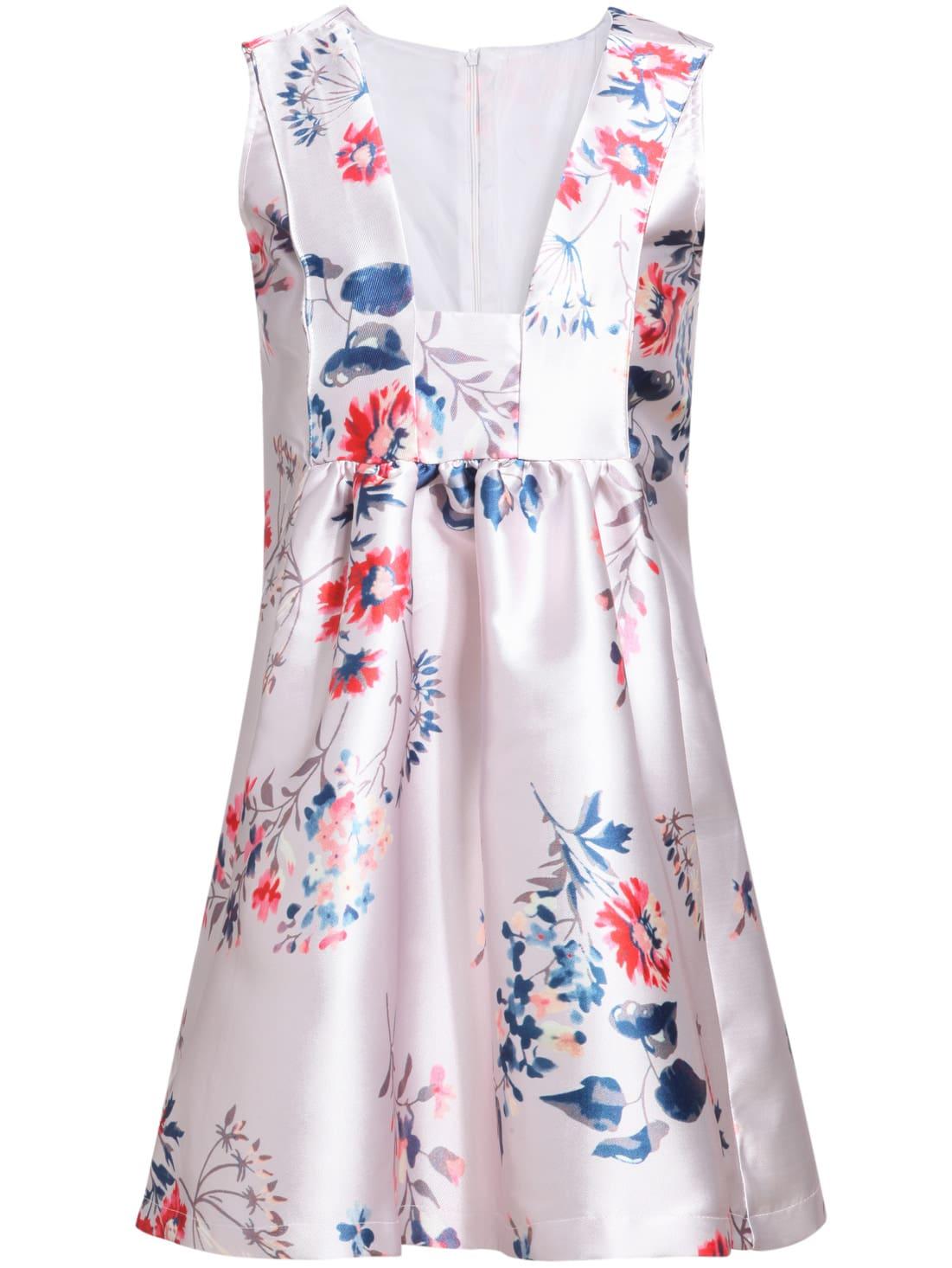 Multicolour V Neck Sleeveless Floral Slim DressMulticolour V Neck Sleeveless Floral Slim Dress<br><br>color: Multicolor<br>size: M