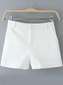 White Diamond Pattern Shorts