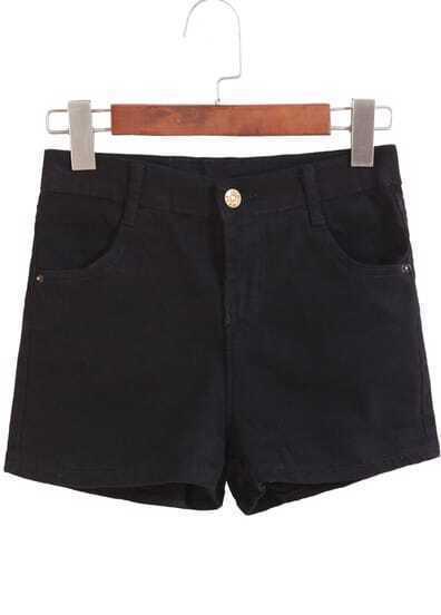 short mini denim bolsillo-negro