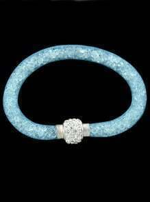 Pale Blue With Diamond Bracelet